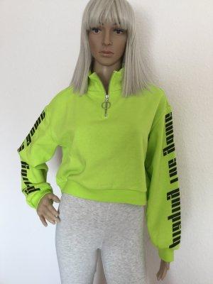 Damen Kurzer Hoodie Sportliches Sweatshirt von H&M Gr.S