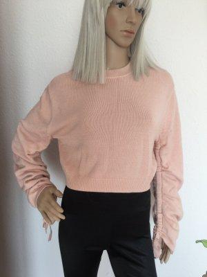 Damen kurzer Pullover mit Schnürung von H&M Gr.XS/S 100% Baumwolle