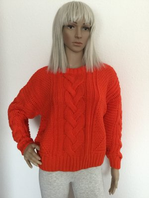 H&M Cable Sweater salmon