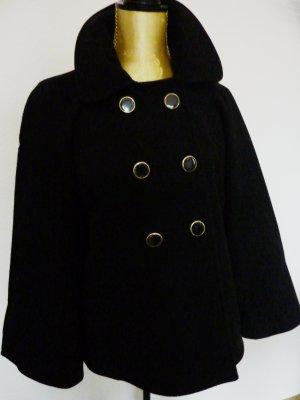 Damen Kurzmantel Wollmantel Wintermantel schwarz Missbehave vintage Boho Fashion