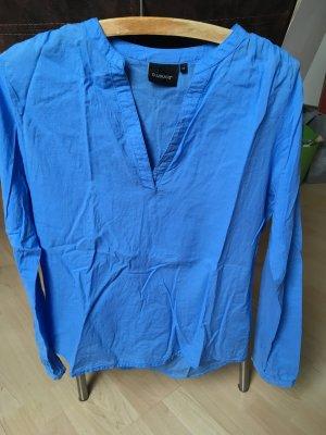 Damen Langarm Bluse blau