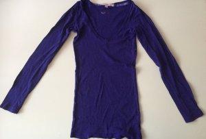 Damen Langarmshirt Gr.XS/34 in lila