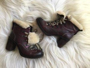 Damen Leder-Boots Stiefeletten von Manas