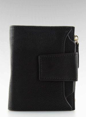 Damen Leder Geldbörse Portemonnaie Brieftasche PF-0-153 Geldtasche Geldbeutel Portmonee Börse schwarz toll zu meinen Taschen die ich verkaufe ( tolles Weihnachtsgeschenk)