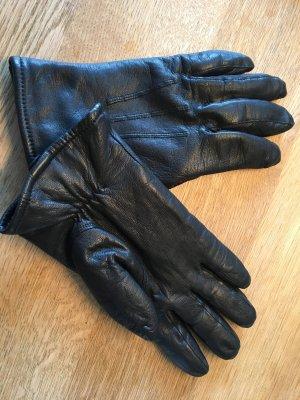 Damen Leder Handschuhe schwarz Gr. M / 7.5