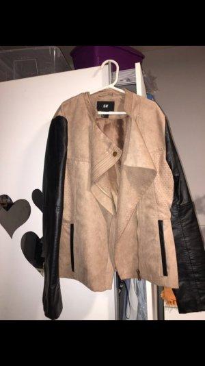 Damen Leder Jacke von H&M.