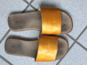 Mules light orange leather