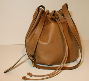 0039 Italy Pouch Bag cognac-coloured leather