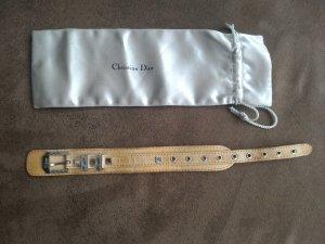 Dior Bracelet en cuir brun sable cuir