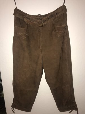 Pantalon traditionnel en cuir brun