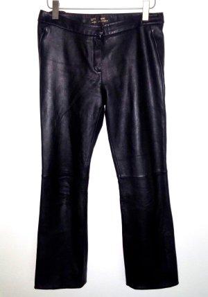 Damen - Lederhose - Echt Leder in schwarz von MNG by Mango Gr.40