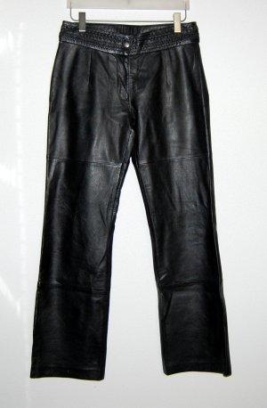 Damen Lederhose schwarz von Montgomery - Gr. 40