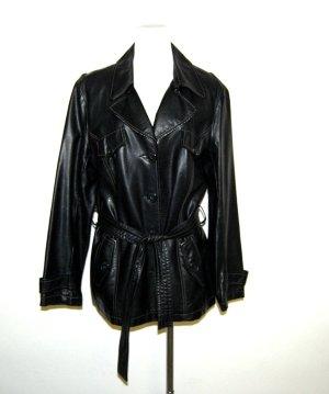 Damen Lederjacke in schwarz von Outfit - Gr. 42