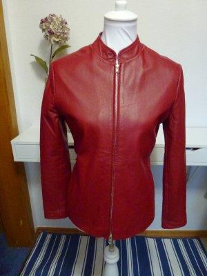 Damen Lederjacke rot von Montego in Gr. 36/38