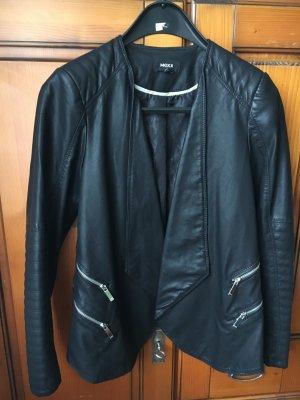Damen-Lederjacke schwarz, talliert, Gr.38
