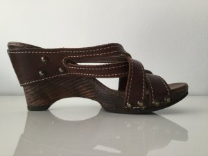 Heel Pantolettes black brown