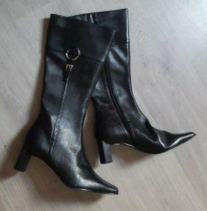 Damen Lederstiefel schwarz Stiefel Echtleder You know UVP 79,95 € Größe 40 NEU