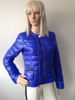 Morgan Doudoune bleu fluo tissu mixte