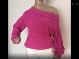 Pull tricoté violet