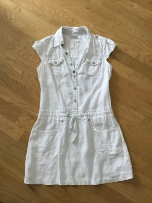 Damen Leinen Kleid weiß neuwertig