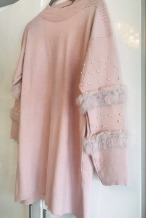 Long Sweater rose-gold-coloured
