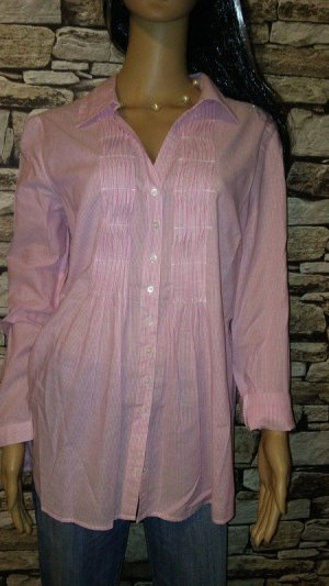 Tchibo / TCM Blusa de manga larga rosa-rosa claro Algodón