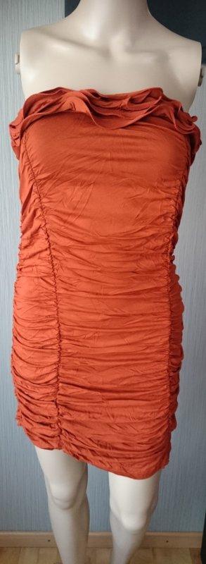 Damen Longshirt dunkel orange