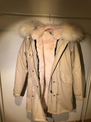 Damen Luxury Parka XXL Kragen aus 100% ECHTPELZ ECHTFELL Jacke Mantel