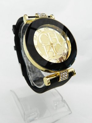 Analog Watch black-gold-colored stainless steel