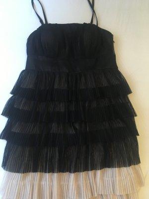 Damen Mädchen Kleid 36, mit Volants, Plissee
