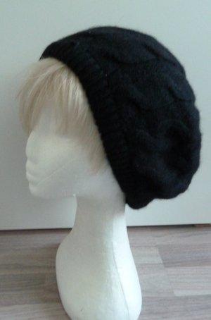 Damen/Mädchen Strick Beaniemütze schwarz Gr.S/M/L