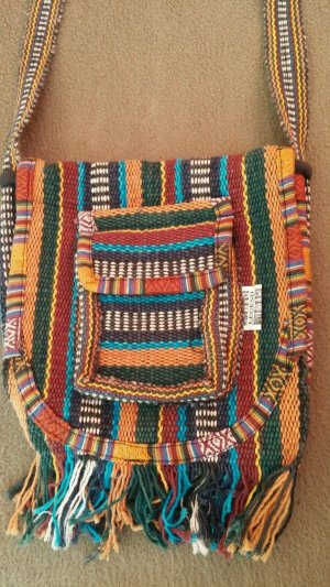 Legend Fringed Bag multicolored cotton
