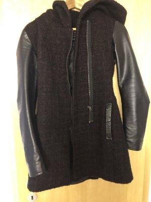 Only Hooded Coat black-brown violet