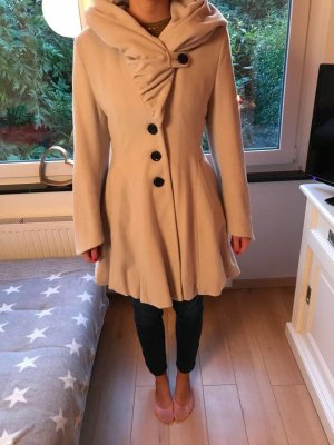 Hooded Coat silver-colored cotton