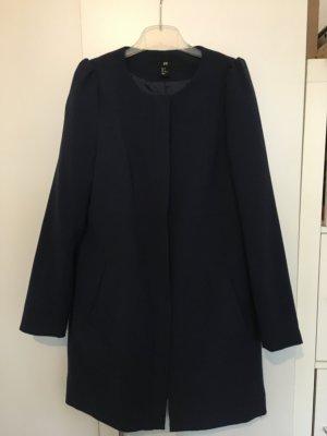Damen Mantel dunkelblau 36 H&M Puffärmel guter Zustand