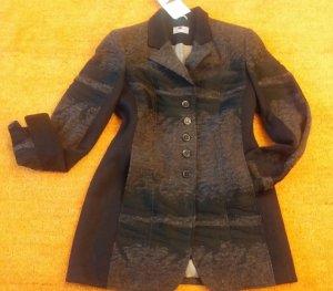 Kirsten Geklede jas zwart-bruin Wol