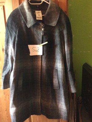 Abrigo corto gris oscuro-blanco