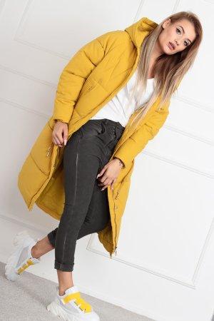 Floor-Lenght Coat dark yellow-yellow