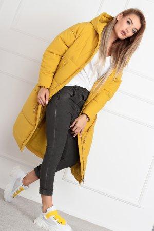 Oversized Coat neon yellow-lime yellow