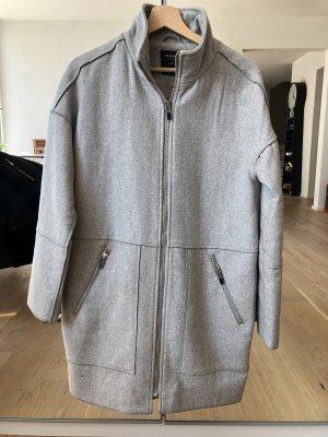 Reserved Abrigo de invierno gris claro-color plata