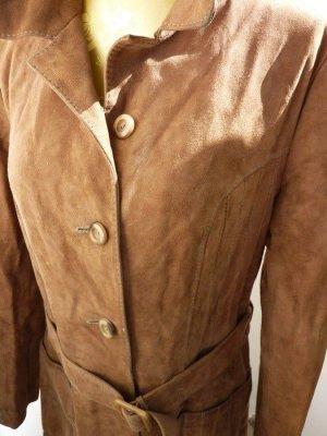 Damen Mantel Wildleder Mantel Trenchcoat