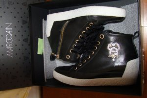 0039 Italy Heel Sneakers black-white leather
