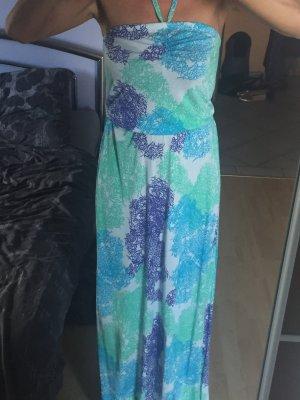 Damen Maxikleid Kleid AJC Gr 36 Türkis Blau Grün Weiß Neu