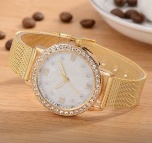 Self-Winding Watch gold-colored-white