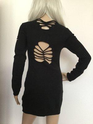 b.p.c. Bonprix Collection Robe en maille tricotées noir