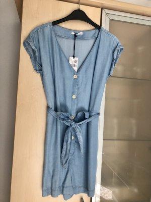 Damen MNG Mango Jumpsuit Kurz Gr XS Hellblau Neu mit Etikett NP 35,99€