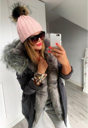 Damen Mütze Blogger Strickmütze nude Bommel Fell Pudelmütze Skimütze BLING BLING Schmuck den Parka Verkauf ich auch