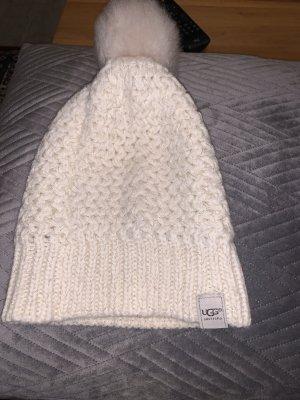 UGG Australia Sombrero de punto blanco puro