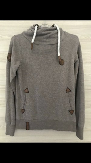 Naketano Hooded Sweater grey brown