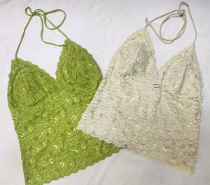 Lace Top lime-green-nude